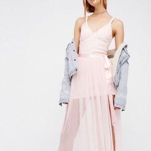 Free People Ballet Punk dress and wrap skirt set